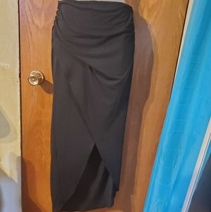 NWOT Black Wrap Skirt